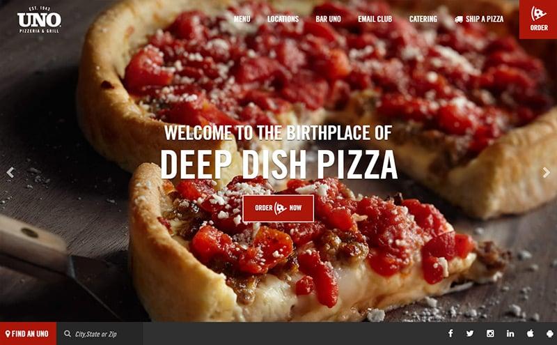 unos restaurant homepage