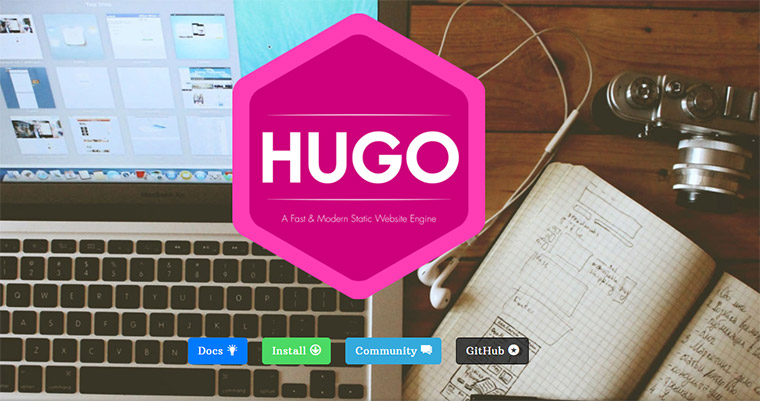 hugo static site builder
