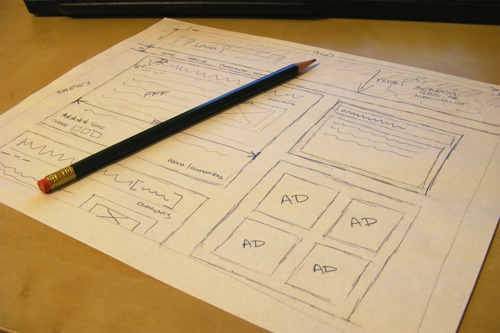 wireframe sketches drawings