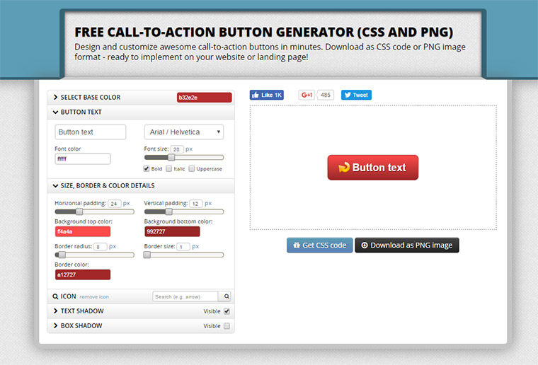 button optimizer webapp