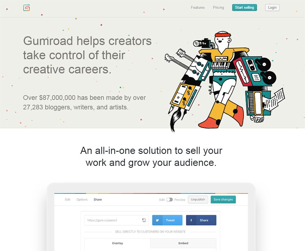 gumroad page