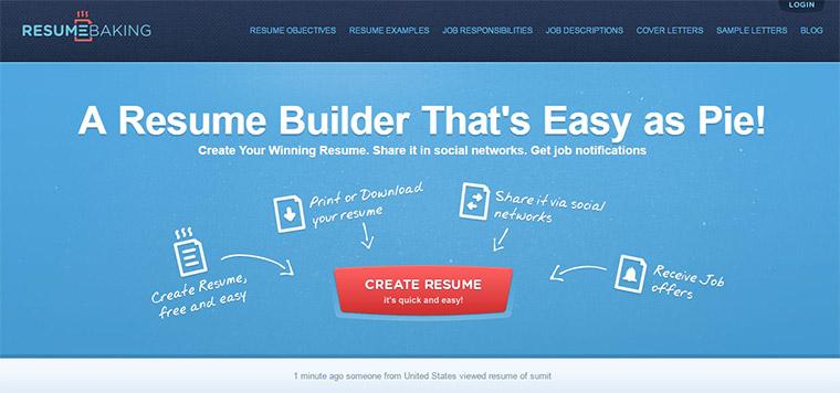 resume baking webapp