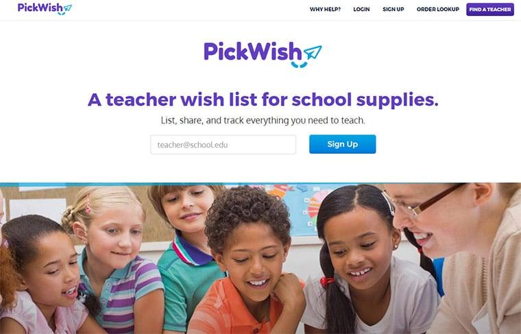 pickwish webapp