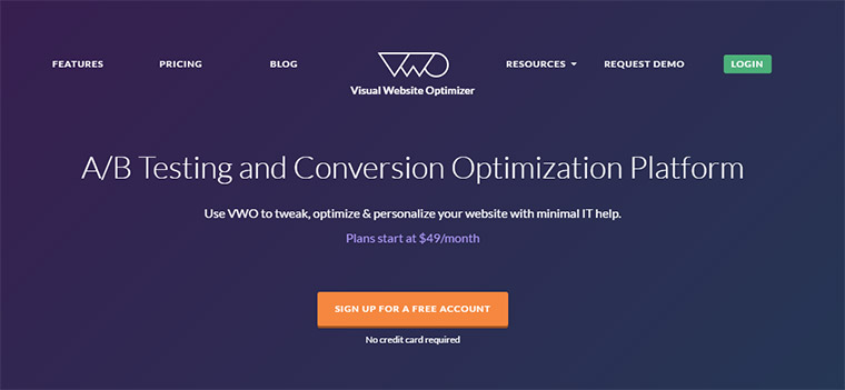 vwo visual optimizer