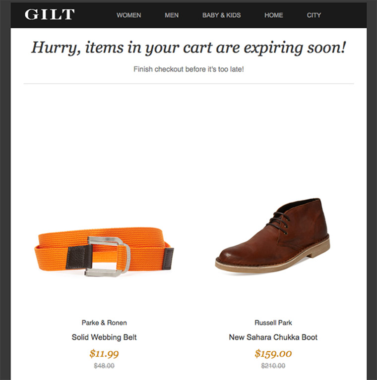 gilt newsletter