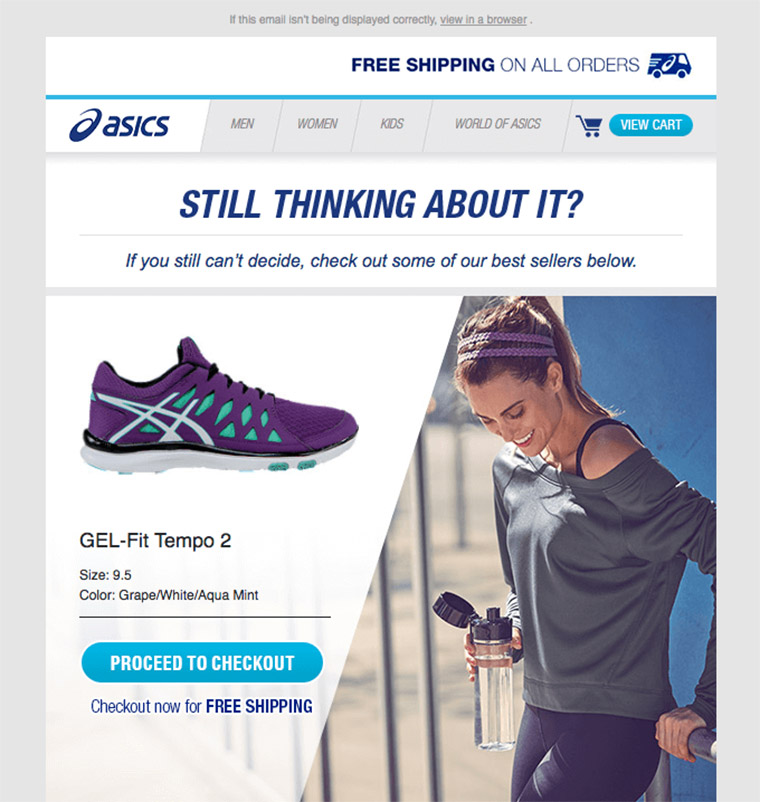asics newsletter