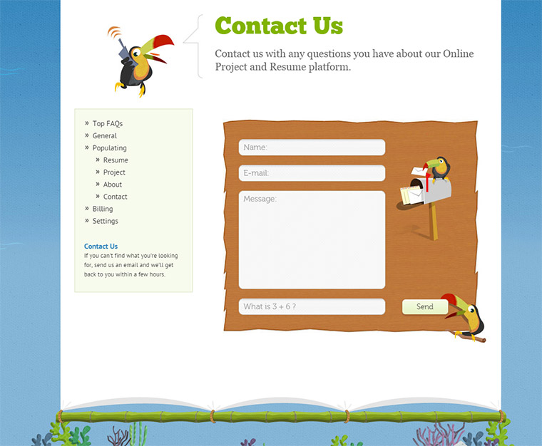 opresume contact page
