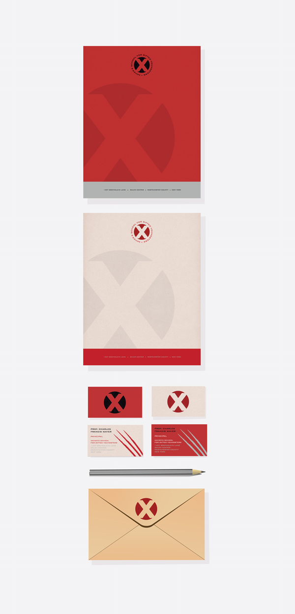 X-Men Stationery