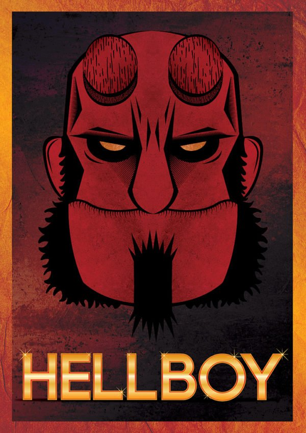 Use Illustrator Design Hellboy Poster