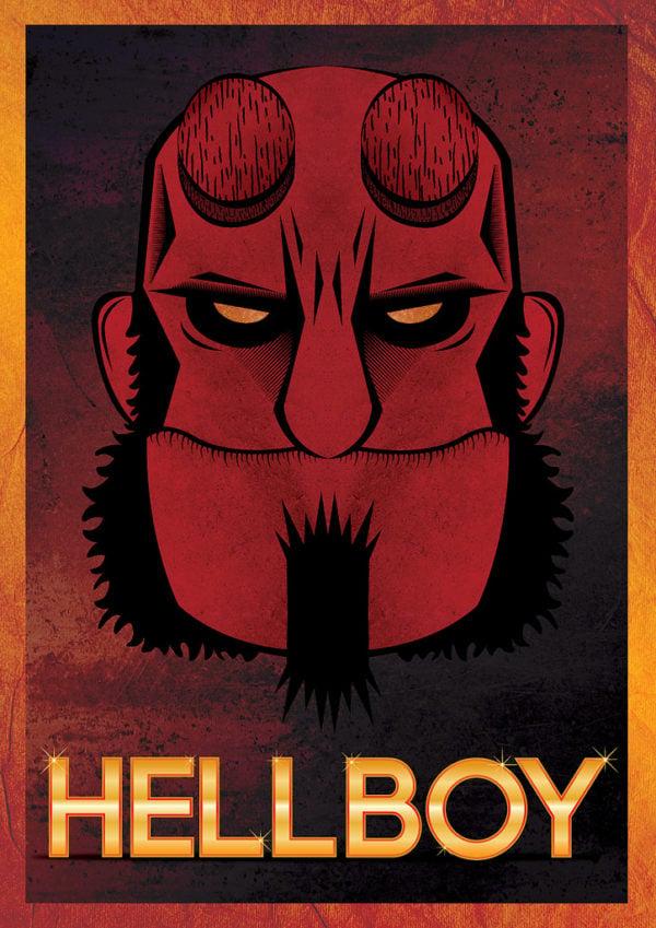 Use Illustrator Design Hellboy Poster