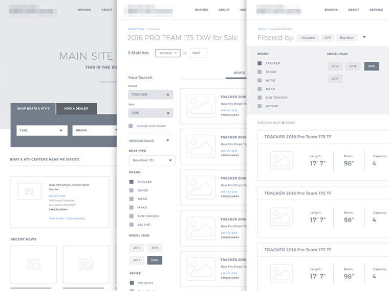 simple website wireframe