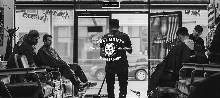 belmont barber shop hero image