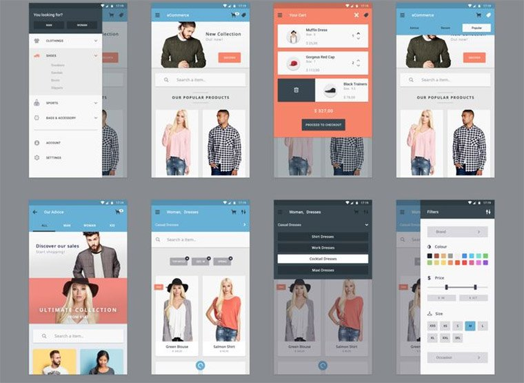 ecommerce app freebie kit