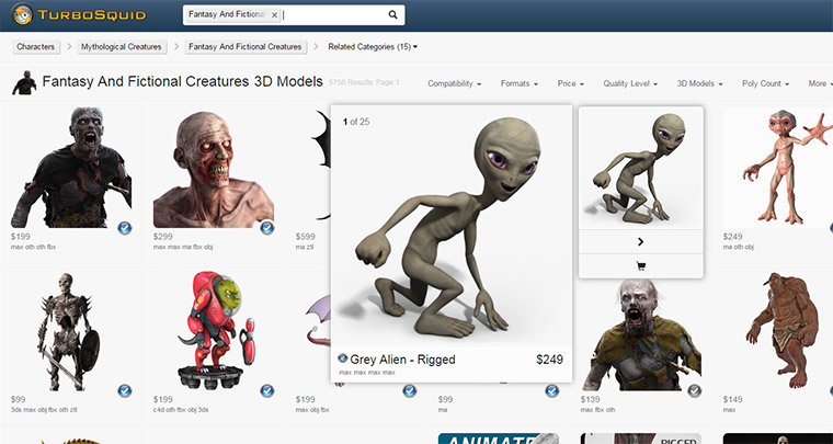 turbosquid tooltips hover gallery