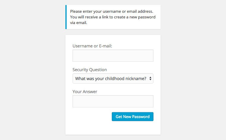 wp security question