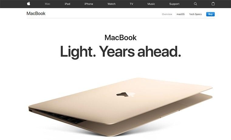 apple macbook product header