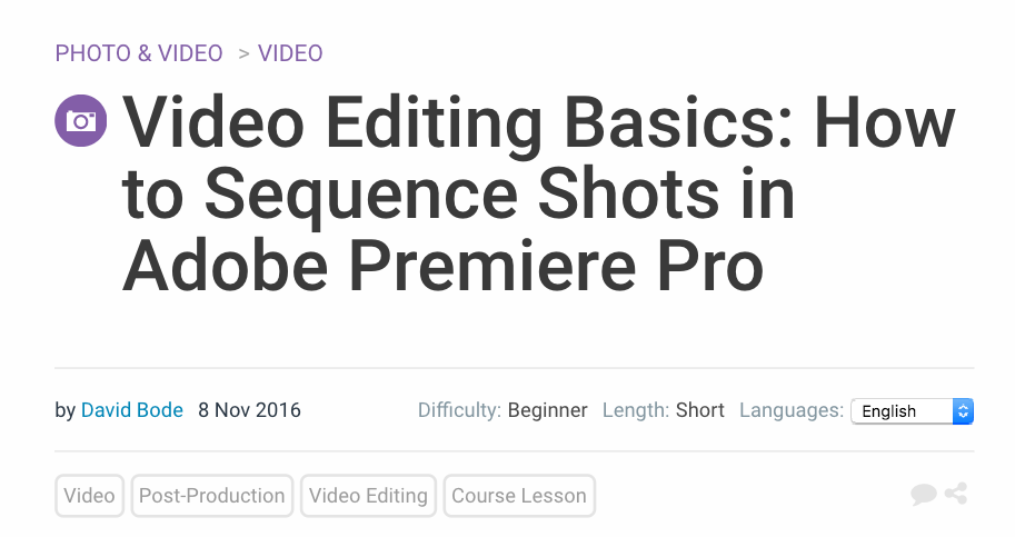 Video Editing Basics Premiere Tutorial