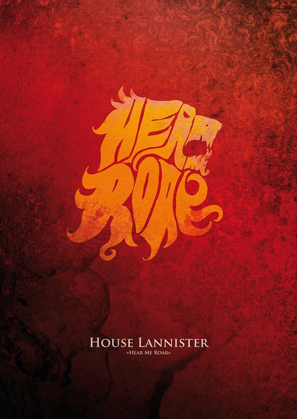 Lannister Flag with motto Hear Me Roar
