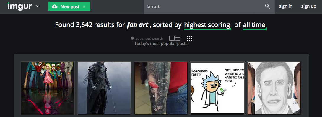 fan art websites