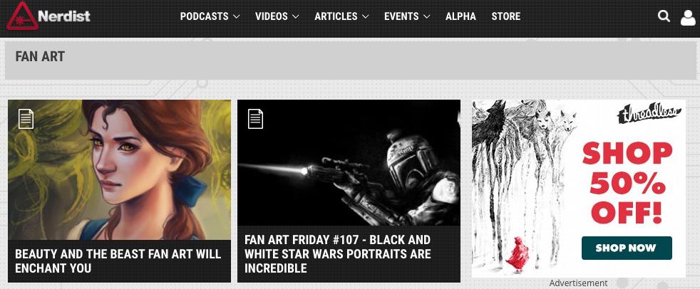 fan art websites