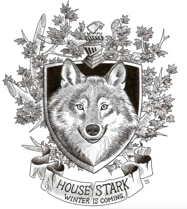 Stark Banner GOT