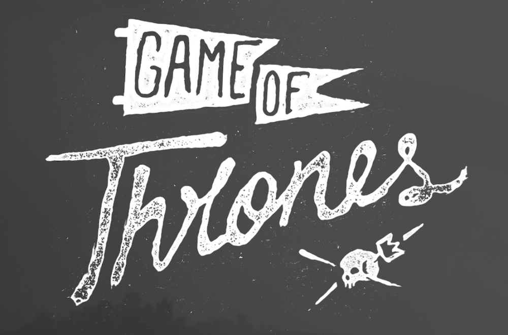 Game of thrones family banners designed by illustrators