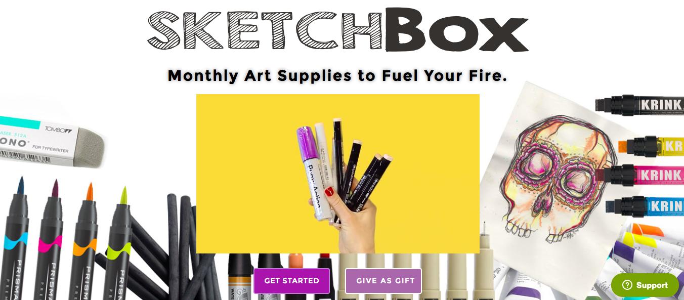 Art supplies subscription box