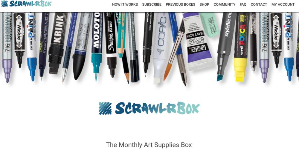 Art supplies subscription