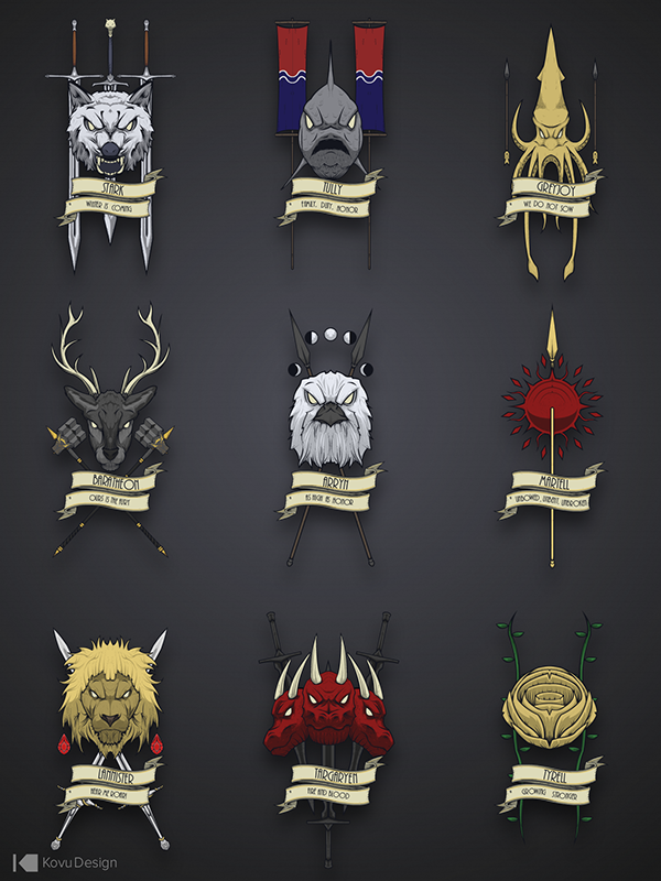 Game of Thrones Crests