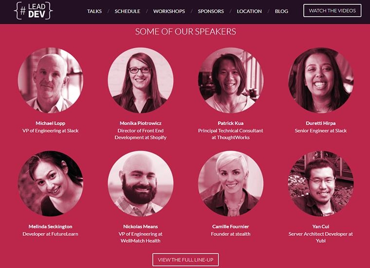 lead developer conf site