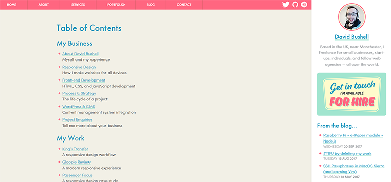 Designing A Usable Table Of Contents For Your Website Trends