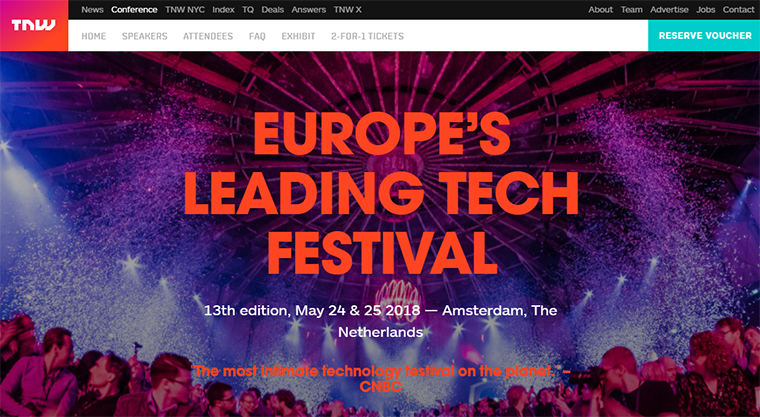 thenextweb conference website