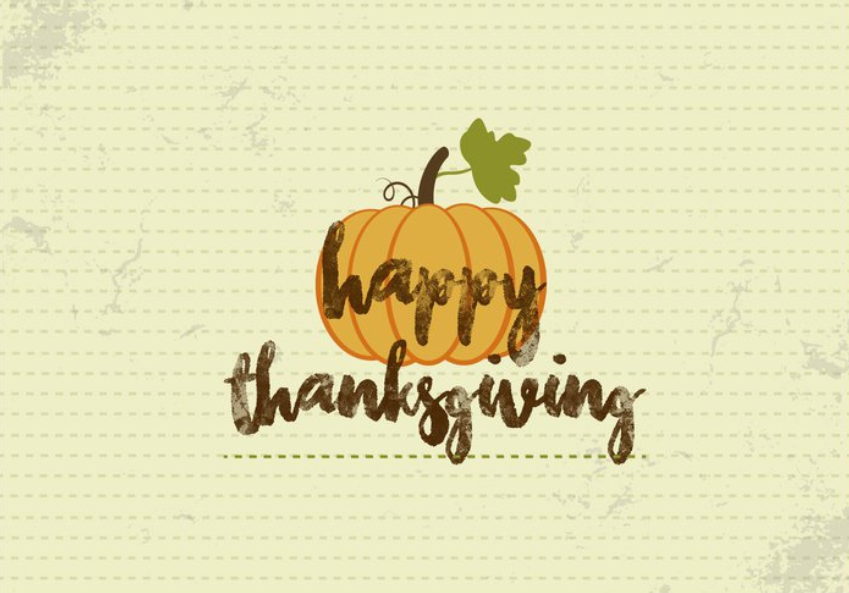 Thanksgiving printable with lettering