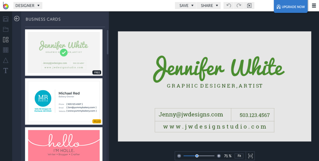 Make your own business cards 10 free sites that simplify design make your own business cards for free reheart Gallery