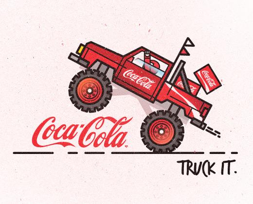 coke truck it branding
