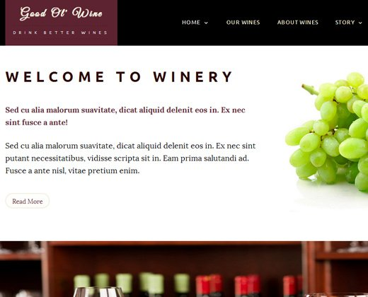 good ol wine winery wordpress theme