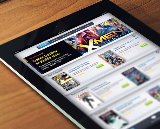 ios tablet comic book store