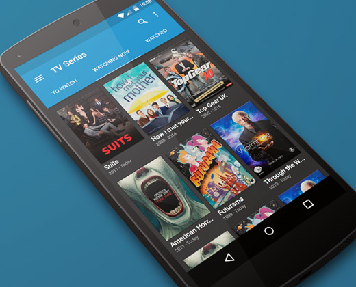tv series tracking app android
