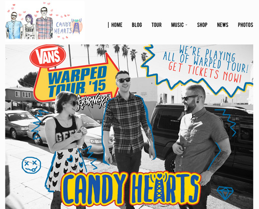 candy hearts band