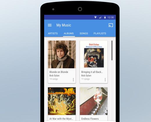 material app mobile player