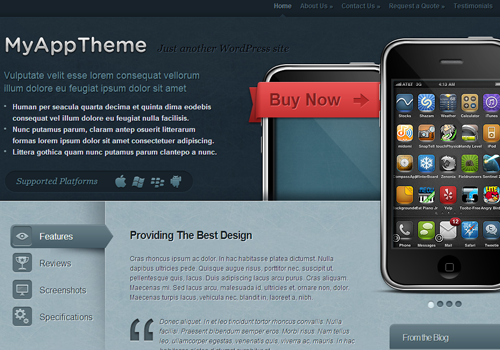 myapp wordpress theme premium template