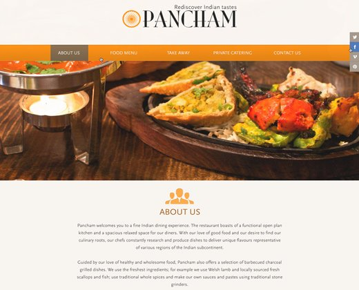 restaurant homepage landing design