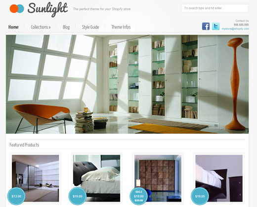 sunlight shopify premium theme design
