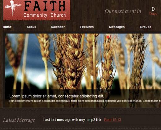 wp wordpress church theme premium design