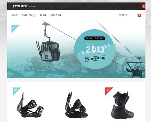 avalanche responsive shopify premium theme