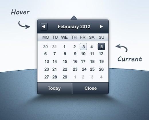 admin date picker template