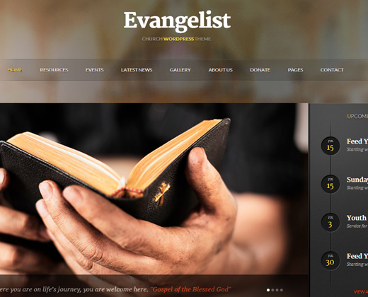 evangelist church wordpress theme