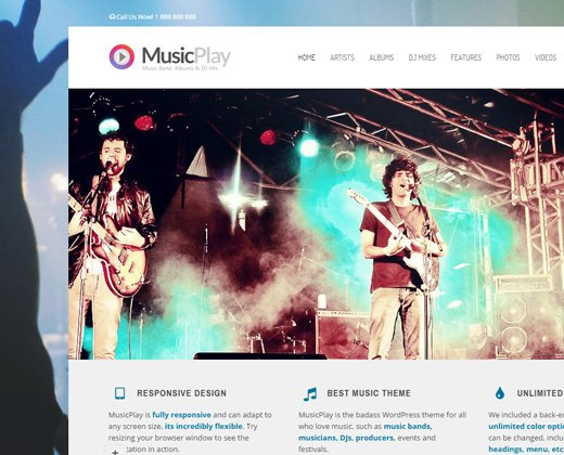 30 best wordpress themes for bands amp musicians