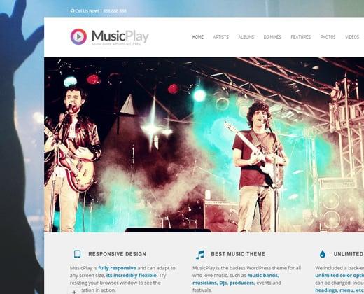 musicplay dj musician responsive wordpress theme