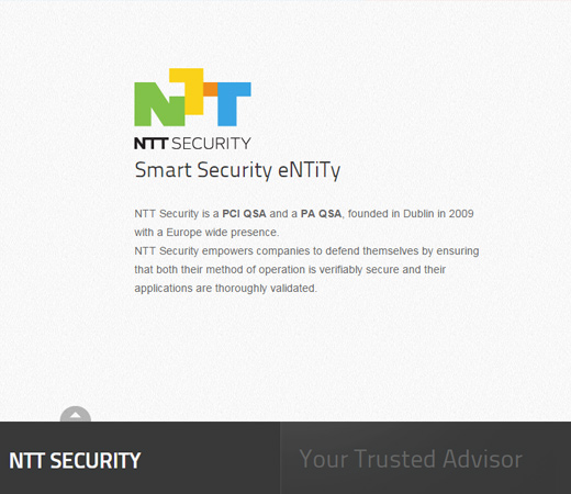 ntt security white clean website layout